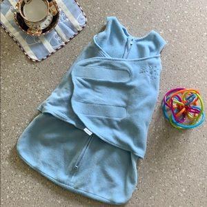 Halo SleepSack Swaddle in Baby Blue, Newborn